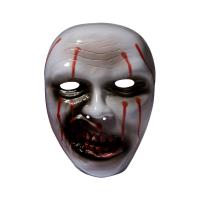 骷髅头面具 万圣节尖叫魔鬼恐怖面具 骷髅鬼脸吓人僵尸头套鬼节舞会面具
