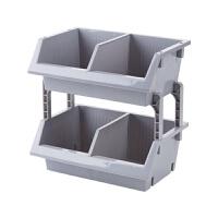 可叠加厨房用品置物架台面落地蔬菜收纳筐塑料调料架收纳架