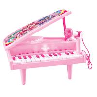 儿童玩具儿童电子琴带麦克风女孩钢琴玩具婴儿早教启蒙音乐小孩小钢琴