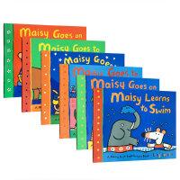 Maisy Swimbag小鼠波波6册套装儿童绘本 廖彩杏推荐英文原版童书绘本 是一套不错的英语入门读物 绘本图画鲜艳