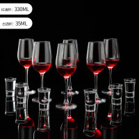 红酒杯欧式玻璃葡萄酒杯大号高脚杯家用香槟白酒杯酒具套装