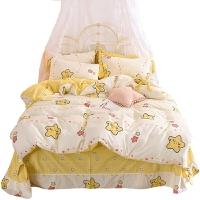 四件套网红同款全棉纯棉床品床单少女心床上用品套件公主风小清新
