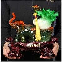 吉祥如意招财大象白菜摆件工艺品 家居风水饰品摆设 店铺开业礼品