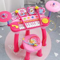 儿童电子琴架子鼓宝宝小孩玩具初学钢琴女孩玩具1-3-6-12岁 粉色