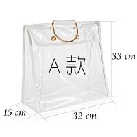 透明密封包包防尘袋收纳袋储物袋包衣柜衣橱挂式创意收纳整理神器 透明PVC/铜质把手/磁扣