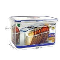 乐扣乐扣 塑料保鲜盒HPL818长方形大容量便当盒 1.9L储物盒 半透明