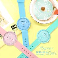 手表女时尚潮流韩版简约休闲可爱中学生儿童考试手表小清新石英表