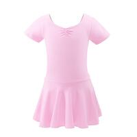 儿童舞蹈服夏季芭蕾舞裙女童短袖练功服跳舞裙女孩中国舞服装