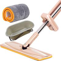 吸水拖把大号拖把家用地板托把干湿两用一拖净吸水的懒人托帕拖帕平板夹板大号 代桶