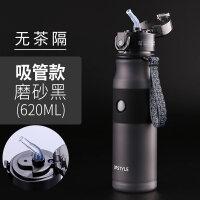 【优选】便携运动健身水壶水杯子瓶塑料大容量户外韩国女学生韩版吸管