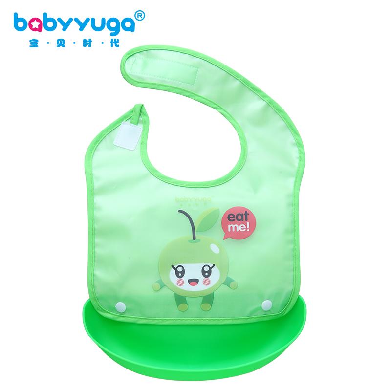 儿童大号吃饭兜婴儿立体防水围嘴宝宝围兜仿硅胶口水巾小孩食兜