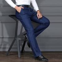 冬季中年加绒牛仔裤男中老年人加厚男裤子大码宽松高腰40岁50爸爸