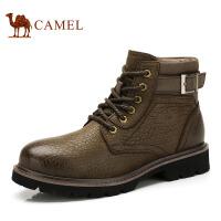 CAMEL 骆驼 新款男士休闲牛皮耐磨靴子2147008