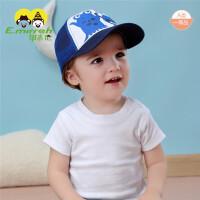 夏季男女童网眼遮阳帽韩版婴儿棒球帽透气宝宝鸭舌帽太阳帽
