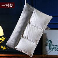乳胶枕头枕芯一对装颈椎枕家用护颈忱头单人荞麦壳皮