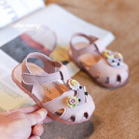 女宝宝鞋子0一1-2-3岁婴幼儿公主鞋软底学步鞋夏季婴儿包头凉鞋