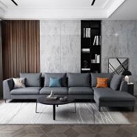 【新品热卖】2019左右意式轻奢布艺沙发懒人沙发客厅现代简约组合羽绒填充5010 组合