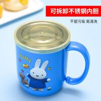 儿童水杯家用304不锈钢宝宝口杯幼儿园防摔带盖牛奶杯子