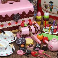 儿童木制切水果玩具蔬菜切切看切切乐男女孩过家家切蛋糕玩具套装