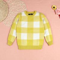 女童套头毛衣加厚男童装儿童针织衫中大童秋冬新款打底衫