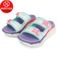 Skechers/斯凯奇女鞋新款运动沙滩舒适轻便凉拖休闲拖鞋140117-WMLT