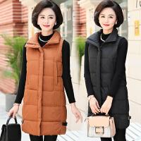 中老年女棉背心中长款40-50岁60妈妈装冬装加厚马甲中年羽绒