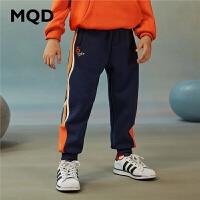 【2件3.5折券后价:129】MQD童装男童针织运动裤2020冬装新款儿童中大童条纹加绒长裤裤子