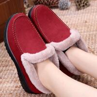冬季老北京布鞋女棉鞋平底保暖加绒中老年人妈妈鞋软底奶奶鞋