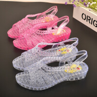 限时特价2020夏季塑料凉鞋鱼嘴果冻鞋女士透明防滑水晶鞋妈妈跳舞鞋沙滩鞋