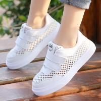 女童运动鞋儿童小白鞋中大童小女孩网鞋夏款透气网面板鞋