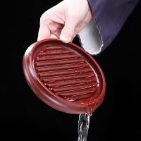 唐丰电木壶承家用功夫茶杯垫隔热储水迷你干泡台置壶器日式建水