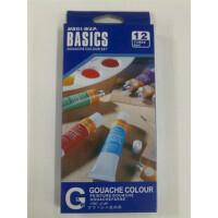 美邦祈富 水粉颜料12色套装 6ML装学生实惠装 套装颜料