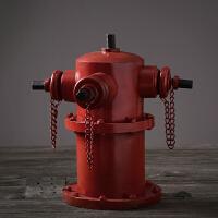 装饰品摆件创意客厅酒柜摆设家居饰品铁艺工艺品复古做旧金属消防栓模型摆件