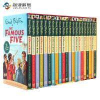 五个小伙伴历险记英文原版儿童读物The Famous Five 21册儿童章节冒险侦探小说7-15岁青少年桥梁章节书中小
