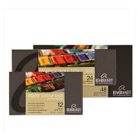 荷兰REMBRANDT水彩伦勃朗固体水彩颜料12色套装金属盒装