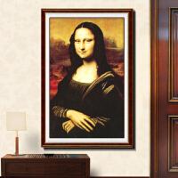 2019新品3D印花十字绣蒙娜丽莎的微笑人物欧式油画版新款十字绣客厅系列 3D精准印花三股绣线多30%