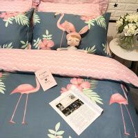 全棉卡通简约儿童单人床三件套1.2米床上用品纯棉被套床笠四件套定制