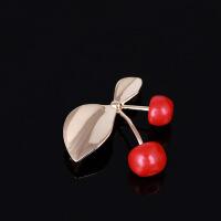 可爱气质红樱桃胸针 亲子款镀珐琅简约甜美胸花 衬衫开衫配饰胸针扣