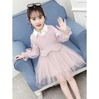 2019新款洋气连衣裙儿童套装裙春秋时髦公主裙两件套童装女童春装