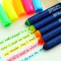 UMI日韩国文具创意可爱固体荧光笔果冻笔 标记笔 记号笔重点笔