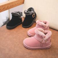 【3折价:69.9元】回力童鞋旗舰店儿童雪地靴女童冬鞋冬季二棉鞋新款加绒男童棉靴子