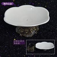 欧式裂纹陶瓷沥水双层肥皂盒家用卫生间肥皂瓷皂托皂碟香皂盒