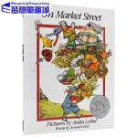 英文原版绘本 On Market Street 凯迪克大奖 去市场的路上 廖彩杏经典字母书推荐 英文儿童读物