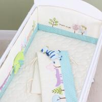 婴儿床上用品婴儿床围 床上用品套件 宝宝儿童防撞床围 可拆洗四季通用ZQ-YS017 黄色