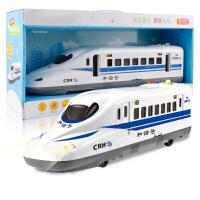 仿真列车动车组音乐男孩汽车模型 儿童玩具车和谐号高铁惯性火车头