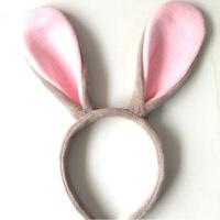 动物头饰 兔耳朵发箍 朱迪兔子头饰学校公司表演动物头箍卡通发卡B 灰兔儿童款 【手缝兔耳】