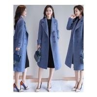 毛呢外套女中长款韩版秋冬新款时尚宽松显瘦过膝呢子大衣外套