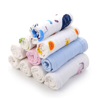 婴儿用品软棉手帕小方巾婴儿口水巾宝宝纱布毛巾棉洗脸巾