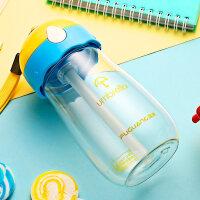 儿童水杯吸管杯可爱卡通幼儿园夏季随手杯小学生塑料杯子 抖音
