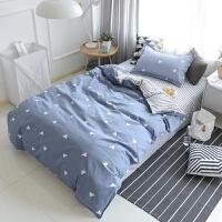 全棉学生宿舍1.2米床三件套0.9m寝室单人床1.5米纯棉被套床单套件 ( 学生三件套+被芯+枕芯 )
